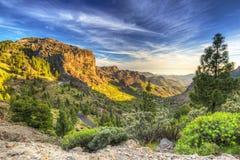 Горы острова Gran Canaria Стоковые Изображения RF