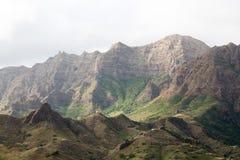 Горы острова Sao Nicolau, Кабо-Верде Стоковое Фото