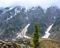 Горы долины Naran, Пакистан - сценарный взгляд Стоковые Изображения