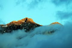 Горы доломита Стоковое фото RF