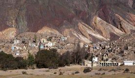 Горы палитры художника в Maimara, провинции Jujuy в Аргентине - Южной Америке Стоковые Изображения RF