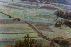 Горы первое морозное утро Стоковое Фото