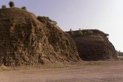 Горы песка Ландшафты Ural brougham пустыня любит стоковое изображение rf