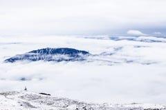 Горы покрытые снегом Стоковая Фотография