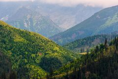 Горы Польши Стоковая Фотография RF