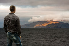 Горы поперек Стоковая Фотография