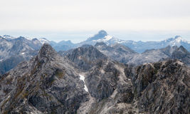 горы приближают к новому queenstown zealand Стоковое фото RF