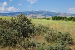 Горы приближают к мезе, Айдахо стоковые фото