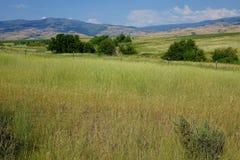 Горы приближают к мезе, Айдахо стоковое фото rf