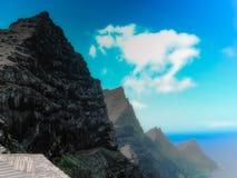 Горы прикованные к морю Стоковые Фото