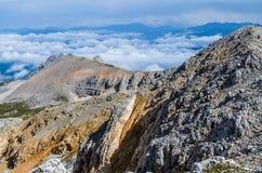 Горы, природа, вершина, туризм Стоковые Фотографии RF