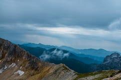 Горы, природа, вершина, туризм Стоковая Фотография