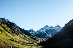 Горы, природа, вершина, туризм Стоковое фото RF