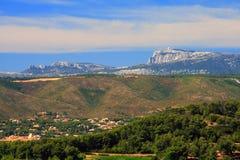 горы Провансаль Стоковое фото RF