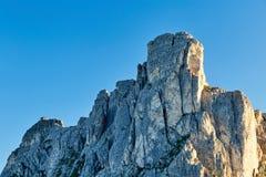 Горы пропуска Giau на дневном свете стоковая фотография