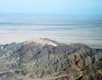 Горы пустыни Nazca около линий Nazca Стоковые Фото