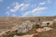 Горы пустыня Негев каньона в Израиле Стоковая Фотография