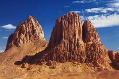 горы Сахара пустыни Алжира hoggar Стоковое Фото