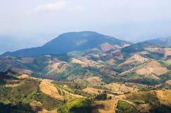 Горы северного Таиланда Стоковая Фотография