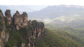 Горы сини Сиднея стоковые фотографии rf