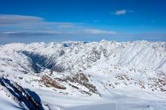Горы снега в Австрии Стоковое Изображение