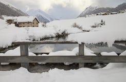 Горы снега стоковое изображение