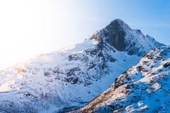 Горы снега, Tromsø Стоковое Изображение