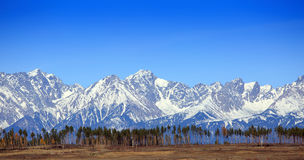 Горы снег-покрытые максимумом Стоковая Фотография
