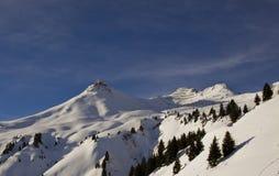горы снежные Стоковые Изображения RF