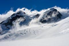 горы снежные Стоковое Фото
