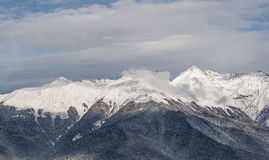 горы снежные Стоковое фото RF