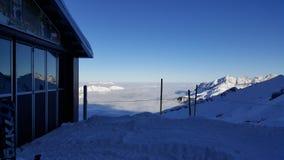 горы снежные Стоковое Изображение