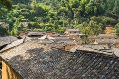 Горы старых деревень, имеют историю, Чжэцзян Китай Стоковое фото RF