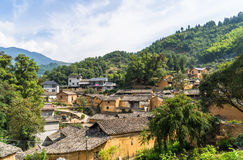 Горы старых деревень, имеют историю, Чжэцзян Китай Стоковое Фото