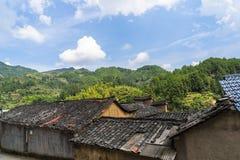Горы старых деревень, имеют историю, Чжэцзян Китай Стоковое Изображение