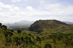 Горы Сьерры Malagueta, вулканический ландшафт - Кабо-Верде, остров Сантьяго стоковое изображение rf