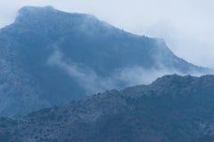 горы тумана сверх Стоковые Фото
