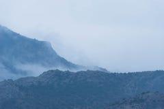 горы тумана сверх Стоковое фото RF