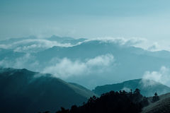 горы тумана Стоковая Фотография RF