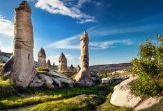 Горы туфа Cappadocia стоковые изображения