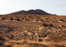 Горы Фуэртевентуры в зоне Jandia Стоковые Изображения