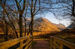 Горы Шотландия гористой местности Glencoe Стоковая Фотография