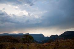 Горы Южной Африки в заходе солнца Стоковые Изображения