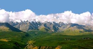 Горы Altai на зеленой долине Северный ряд Chui Стоковое Изображение RF