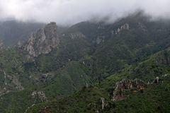 Горы Anaga, Тенерифе стоковое фото rf