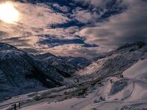 Горы Andermatt Snowy, Швейцария Стоковая Фотография RF