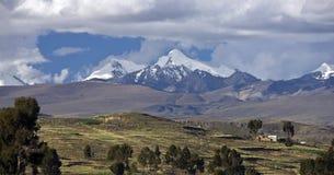 горы andes Боливии Стоковое Изображение