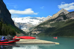 Горы Banff Альберты, Канады Lake Louise Альберта Стоковое Изображение RF
