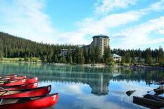Горы Banff Альберты, Канады Lake Louise Альберта Стоковые Фотографии RF
