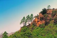 Горы Bavella в острове Корсики, Франции стоковые фото